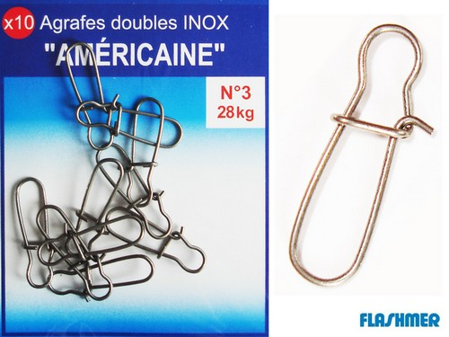 AGRAFES DOUBLES INOX FLASHMER